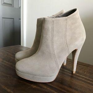 Shoemint Suede Leather Booties/Heels Size 6 1/2